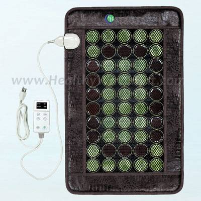 "Light Jade & Tourmaline Far Infrared Heat Mesh Mat 32"" x 20"""