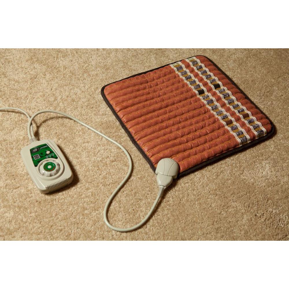 itm pad fir ion brown heating mat ereada infrared midsize negative amethyst mats