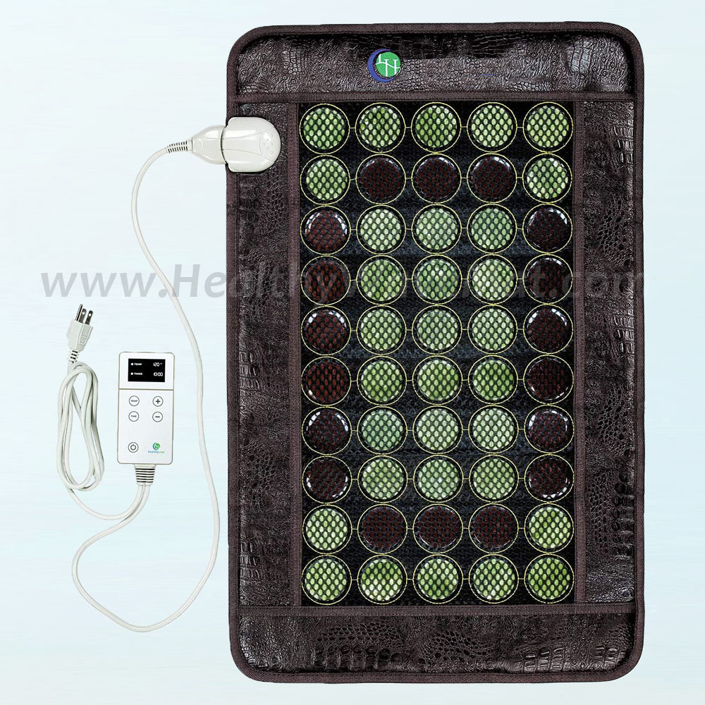 "Light Jade & Tourmaline Far Infrared Heat Mesh Mat 32"" x 20\"""